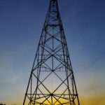 ロシアのウラジオストクの鉄塔