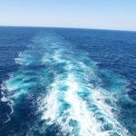 泡を含んだ海が、足跡のように残っていました。