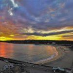 御宿海岸の夕陽